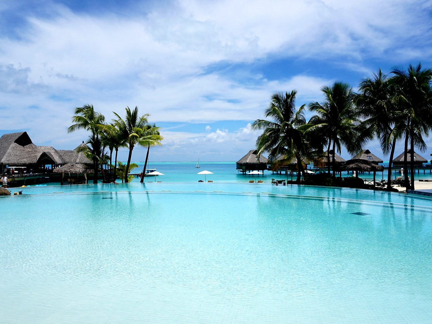 Swimming pool at the Conrad Bora Bora Nui