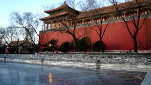 beijing forbidden city winter ice moat