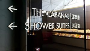 cathay pacific first class wing lounge showers cabanas