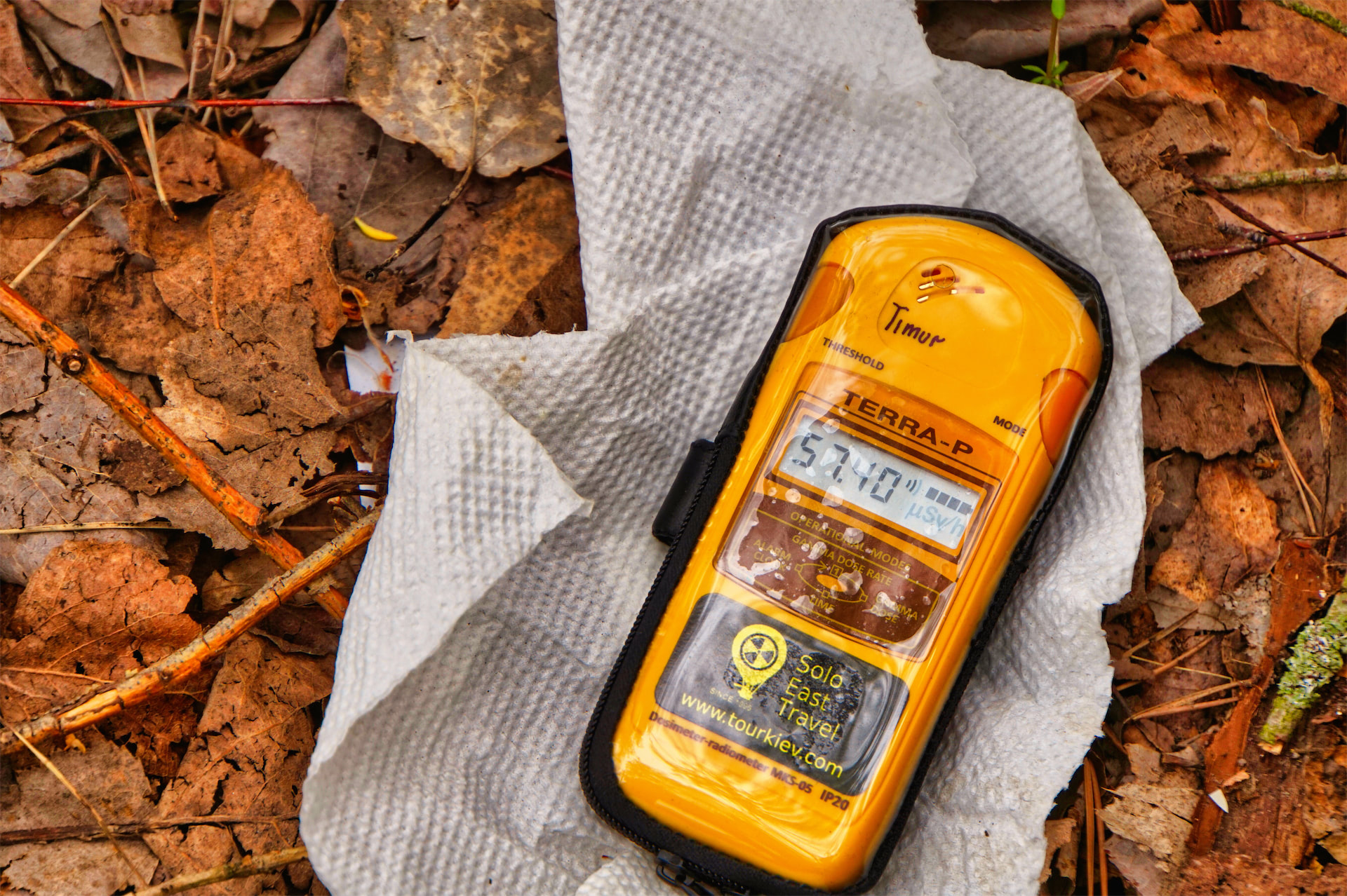 chernobyl tour radiation detector geiger counter