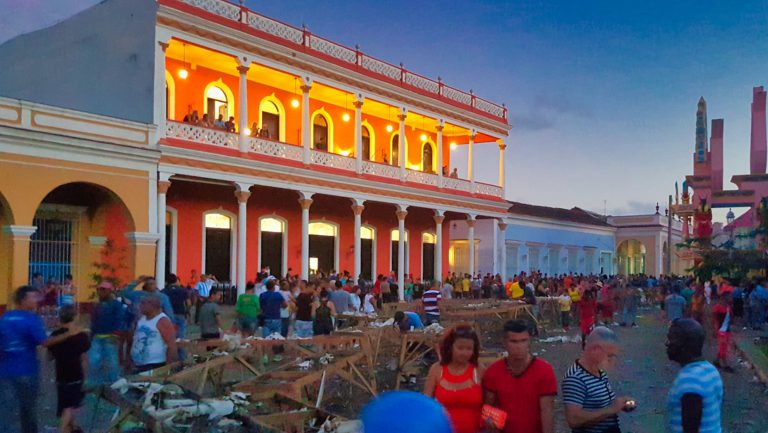 remedios fireworks festival cuba street cleanup