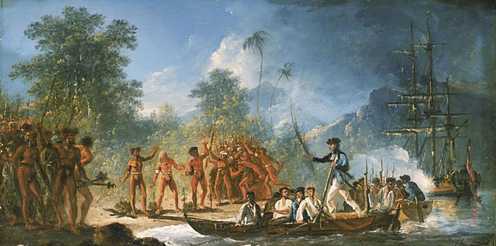 The Landing at Tana one of the New Hebrides by William Hodges