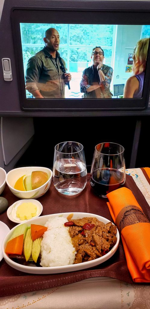 EVA Airways Premium Laurel Class A330 TPE MNL Dining