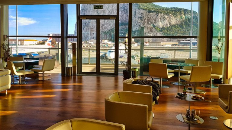 Priority Pass Calpe Lounge Gibraltar seating area and view