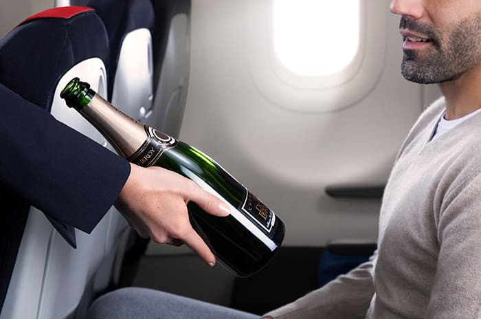 Air France Domestic business Class Champagne