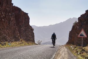 Cycle Morocco into the sun