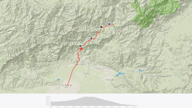 Cycle Morocco Day 2 route