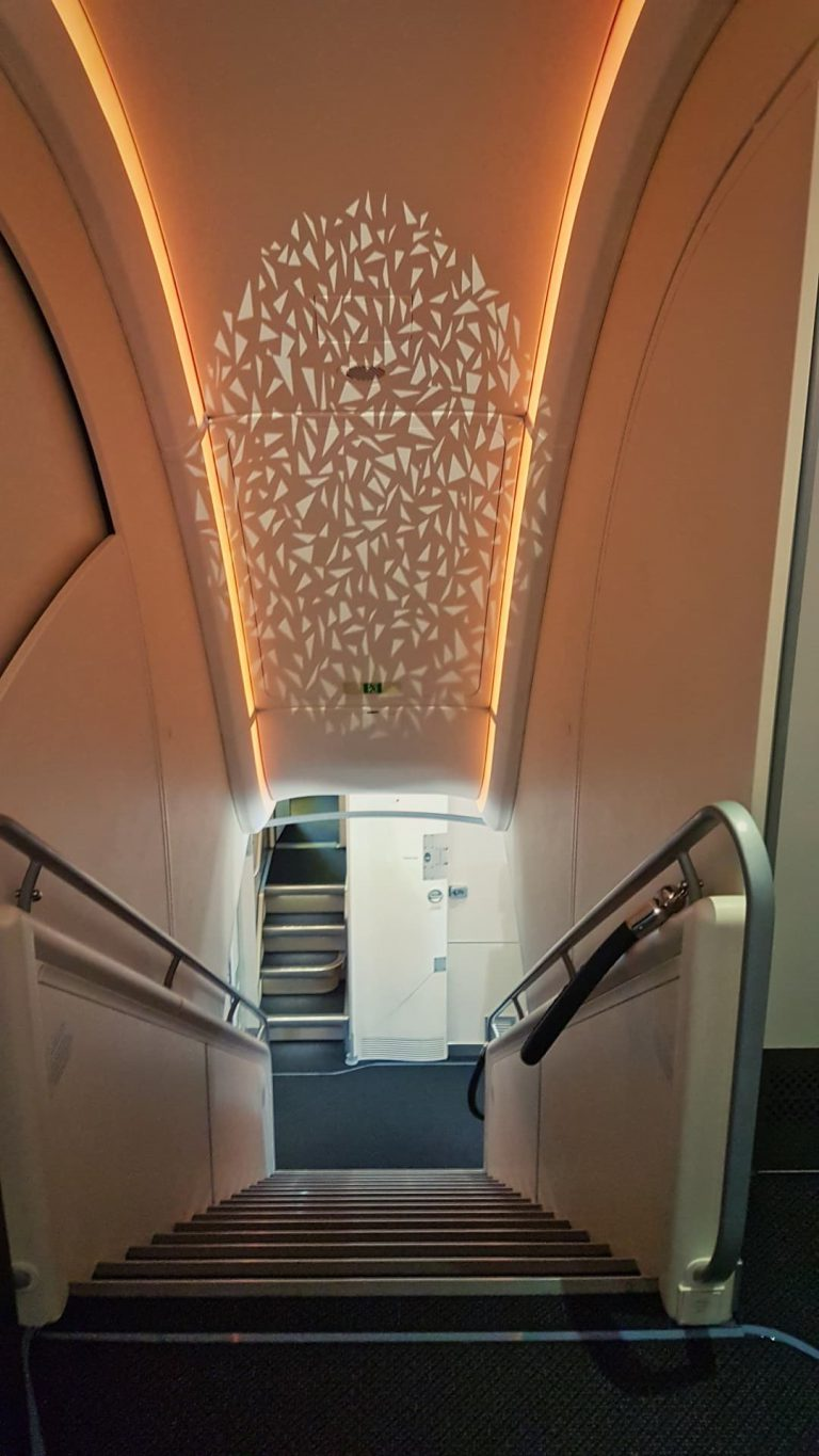 Etihad A380 First Class Top Deck Stairs