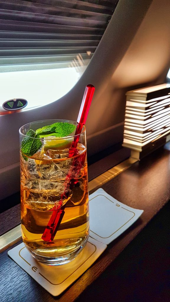 Etihad Apartment First Class Cocktail