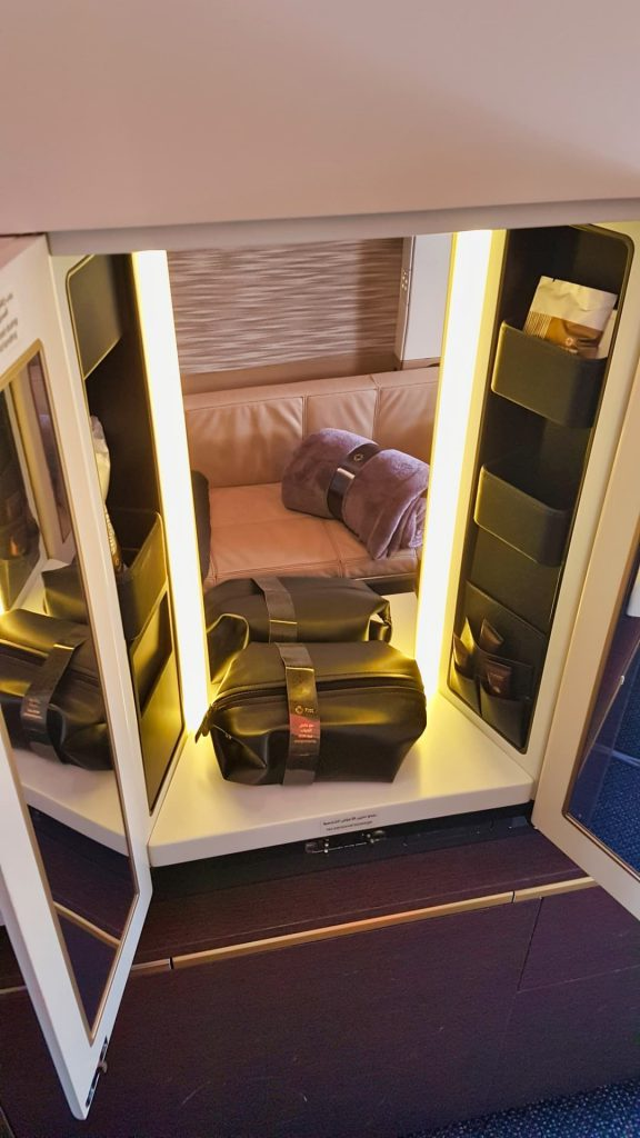 Etihad Apartment First Class Vanity Cupboard