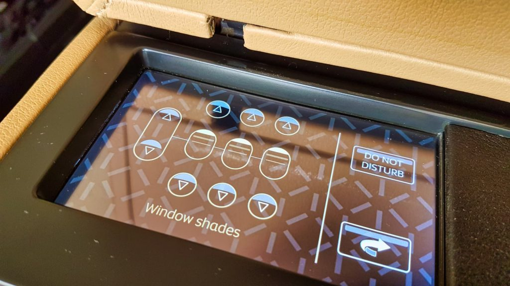 Etihad First Class Apartment Controls