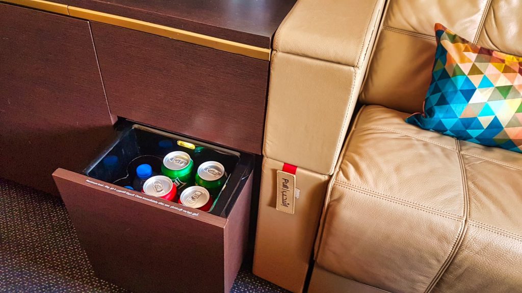 Etihad First Class Apartment Drinks Cabinet