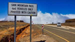 Sani Pass 4x4 vehicles only