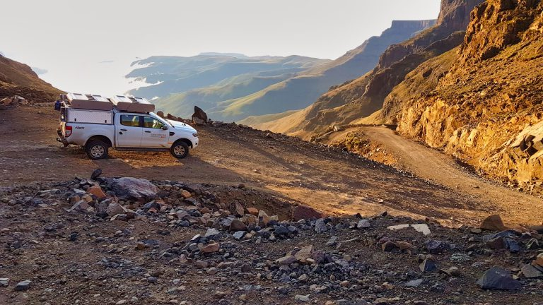 Sani Pass Hairpins near Sani Top