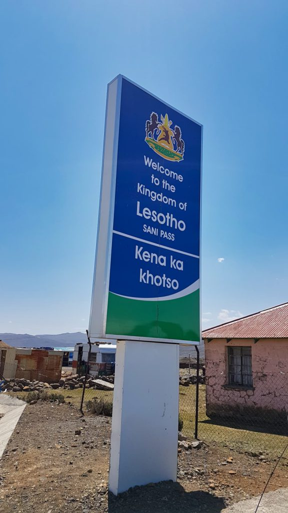 Sani Pass Welcome to Lesotho