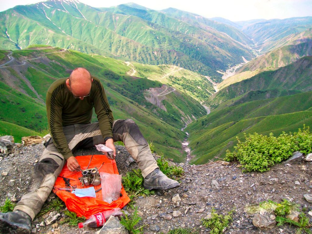 Kyrgyzstan Roadside motorcycle repairs