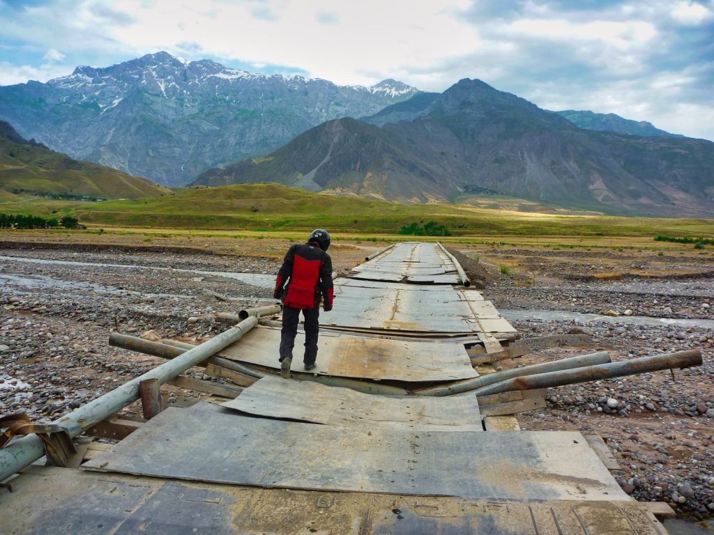 Pamir Highway Bridge out