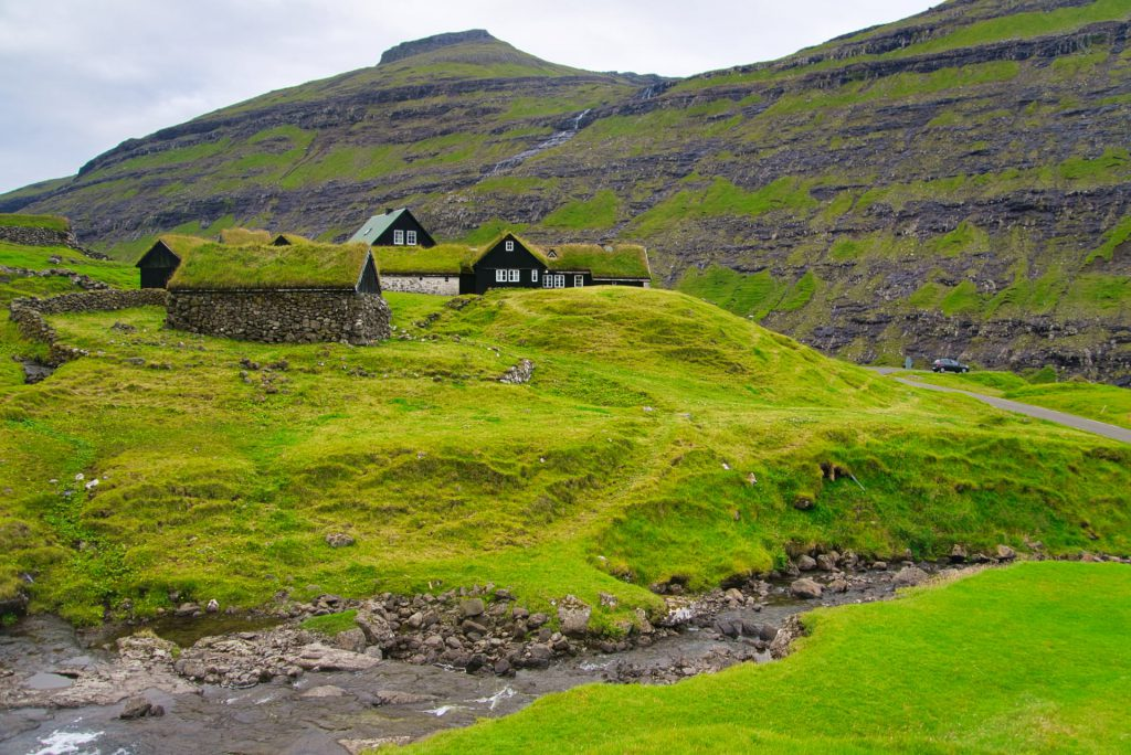 Faroe Islands Saksun Turf Roofs
