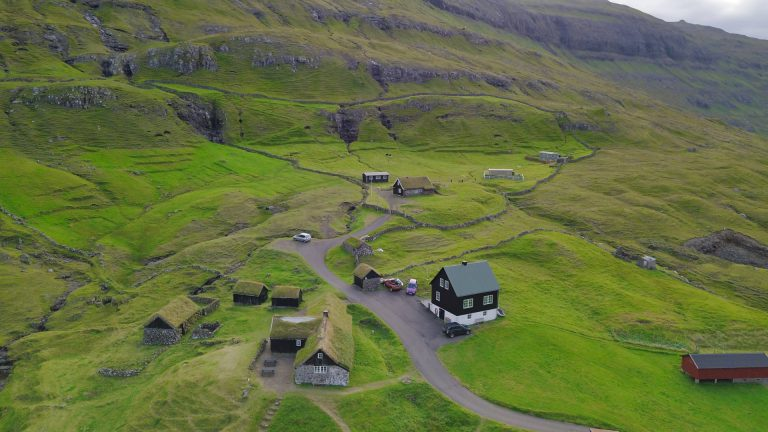 Faroe Islands Saksun by Drone