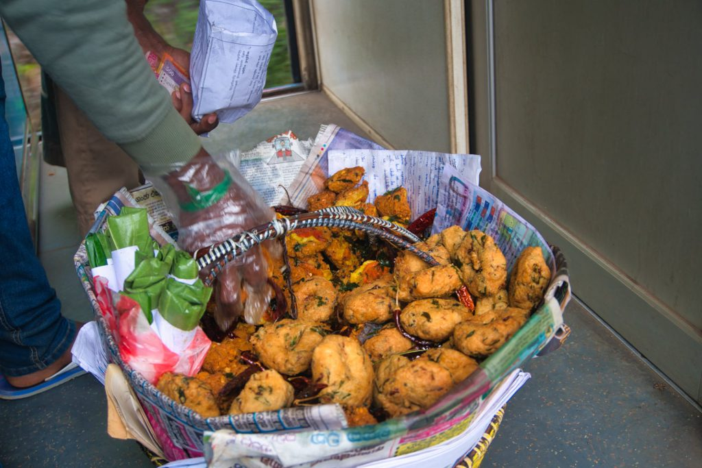 Kandy Ella Train Food onboard serving