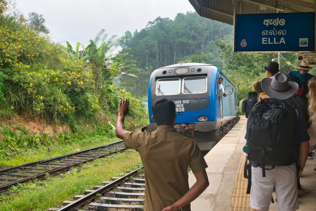 Kandy Ella Train Ella Train Station Arrival