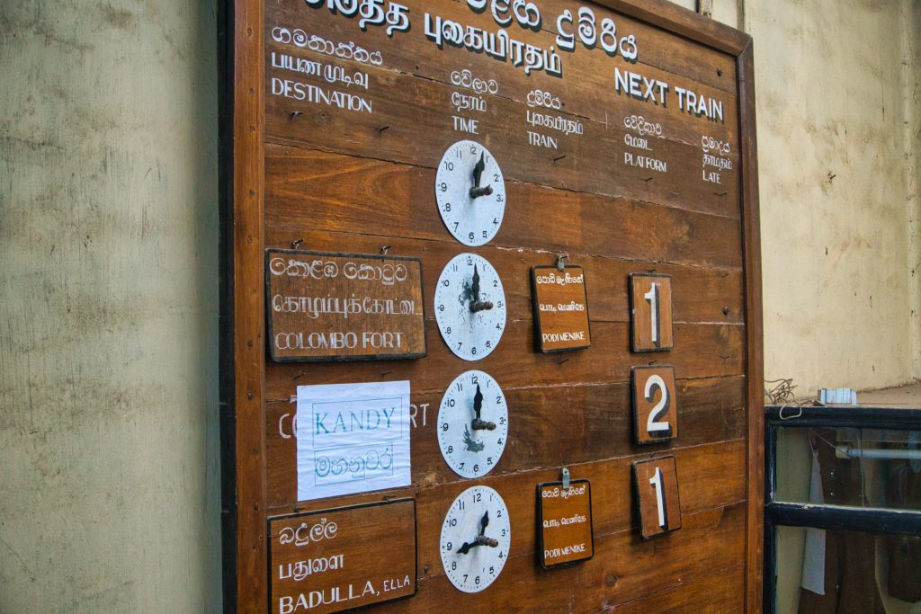 Kandy Ella Train Nanu Oya Timetable