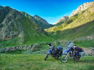 Bike Kyrgyzstan Wild camping perfection