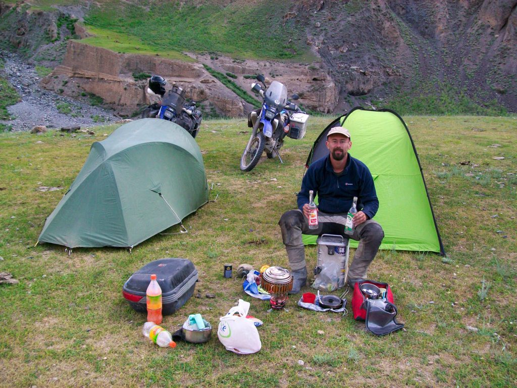 Kyrgyzstan Wild camping and 2 bottles of vodka