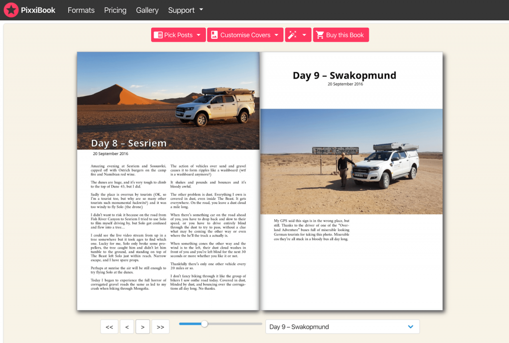 Make a book from a blog Layout 8